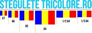 Stegulete hartie Tricolore A7, A6, A5, A4, 1/2 A4, 1/3 A4