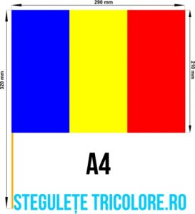 Stegulete hartie tricolore A4
