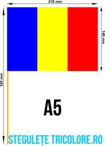 Stegulete hartie tricolore A5