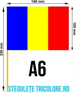 Stegulete hartie tricolore A6