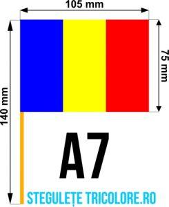 Stegulete hartie tricolore A7