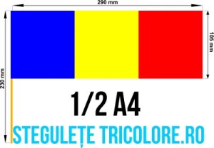 Stegulete hartie tricolore 1/2 A4
