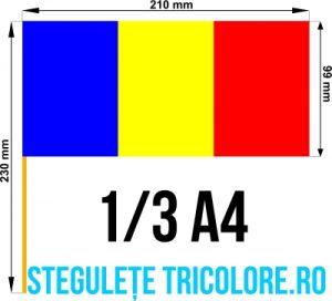 Stegulete hartie tricolore 1/3 A4