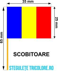 Stegulete hartie tricolore Scobitoare